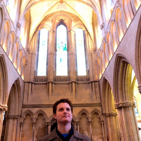 Dave admiring the beauty of Wells Cathedral