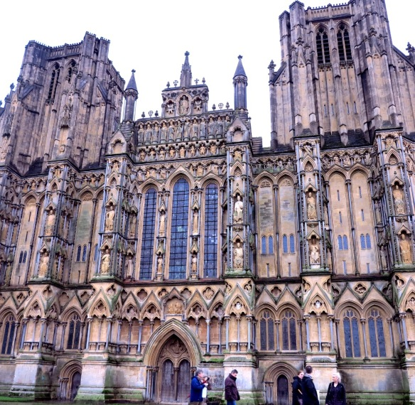 The exterior of Wells Cathedral