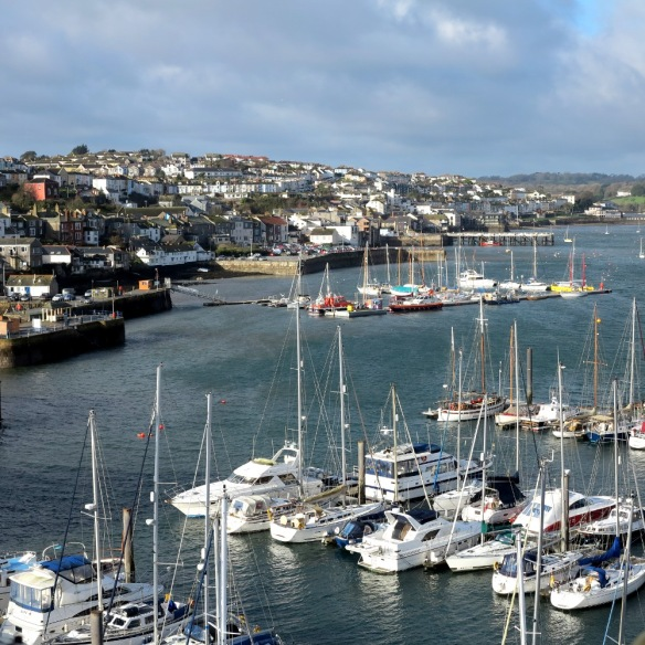 Falmouth's tranquil harbour shelters yachts, big and small, from all over the world