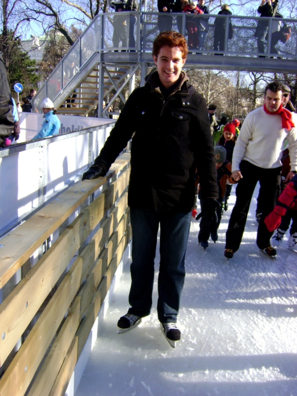 I gave ice skating a go once in Vienna - look, one hand!