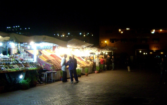 The market stalls in the main square are scary at first but if you overcome your fear a world of taste is yours