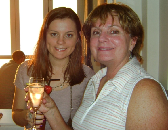 Me and my mum when we went back to visit nearly a year ago