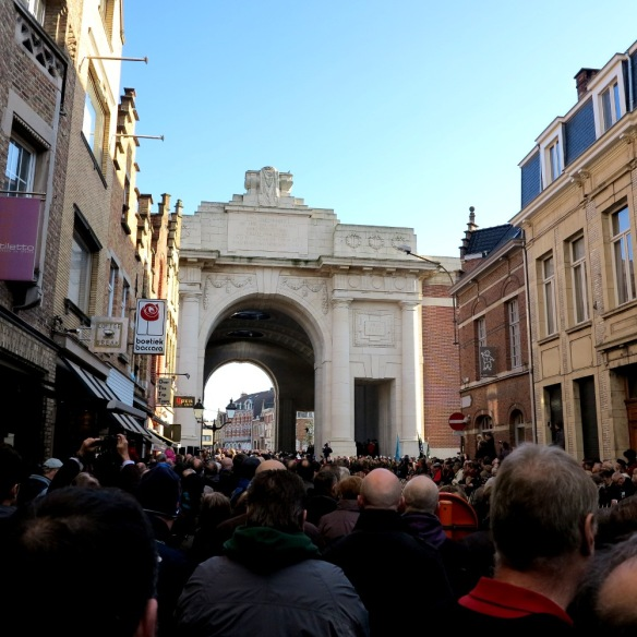 This is the minute's silence on Remembrance Day in Yvpes, Belgium
