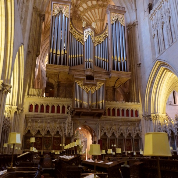 The organ overlooks the centre of the cathedral where the choir boys would sing