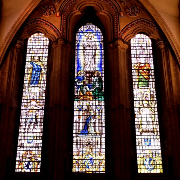 The stunning stained glass windows - no cathedral is complete without them