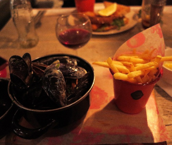 My mussels - they were big a juicy. The only one annoyance was that a couple were slightly gritty