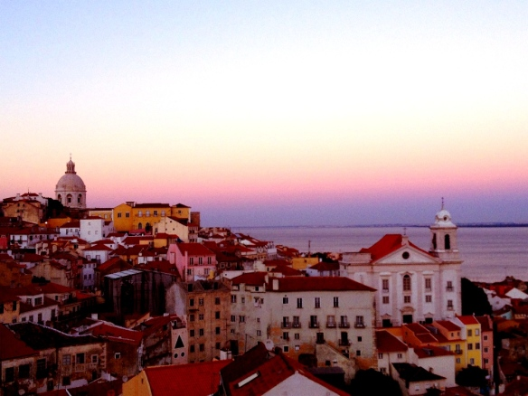 Watching the sunset of Lisbon took my breath away