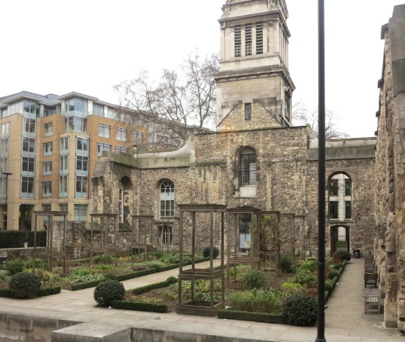 This church was bombed in the Second World War but its ruins have now been turned into a garden